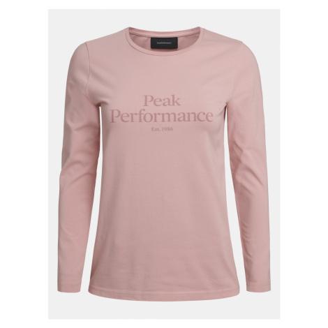 Tričko Peak Performance W Original Ls - Růžová