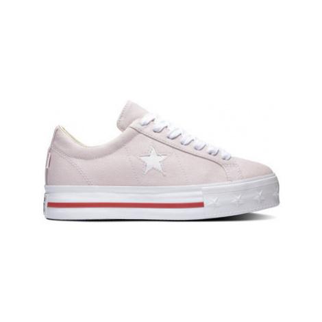 Converse One star platform ox Růžová