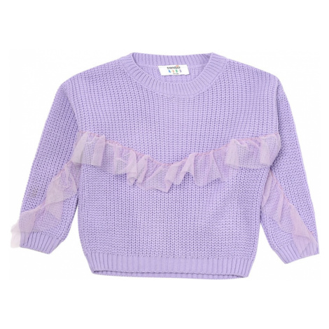 Trendyol Lilac Tulle Frill Detailed Girl Knitwear Sweater