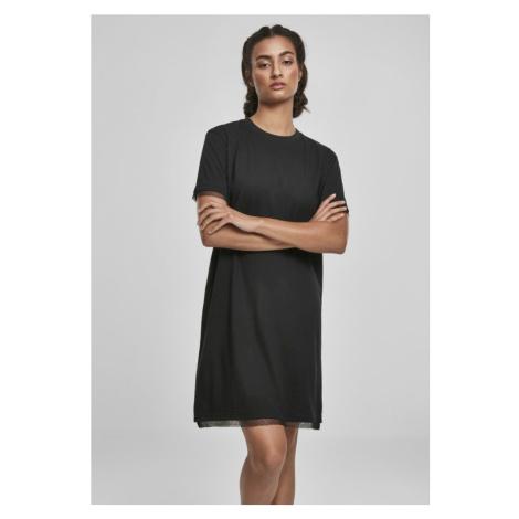 Ladies Boxy Lace Hem Tee Dress Urban Classics