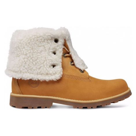 BOTY TIMBERLAND 6 IN WP SHEARLING JUNIOR - hnědá