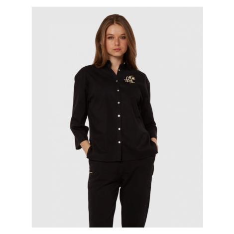 Košile La Martina Woman 3/4Sleeve Shirt Cotton P - Černá