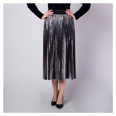 Plisovaná sukně stříbrné barvy v lesklém provedení 11363 Willsoor