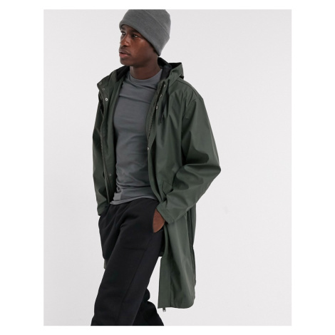 ASOS DESIGN water resistant parka jacket in khaki-Green