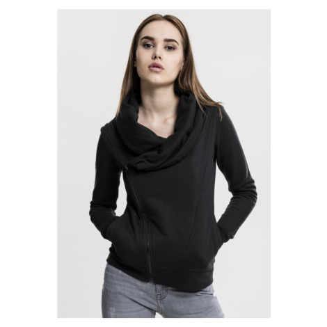 Ladies Asymetric Zip Jacket - black Urban Classics