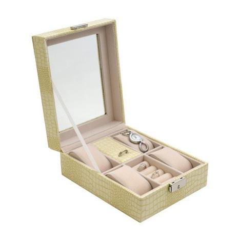 JK BOX SP-1810/A20, Dámská kazeta na hodinky a šperky krémová JKbox