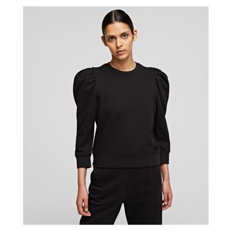 Mikina Karl Lagerfeld Puffy Sleeve Logo Sweatshirt - Černá