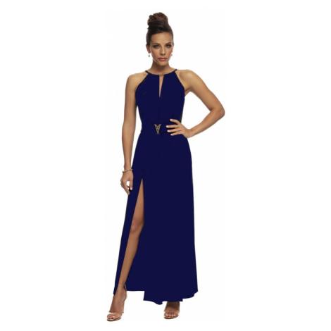 Dámské dlouhé šaty Magistral Monaco D400   modrá