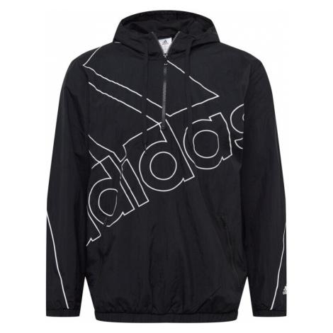 ADIDAS PERFORMANCE Sportovní bunda černá / bílá