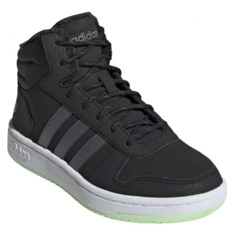 adidas HOOPS MID 2.0 K tmavě šedá - Dětská zimní obuv