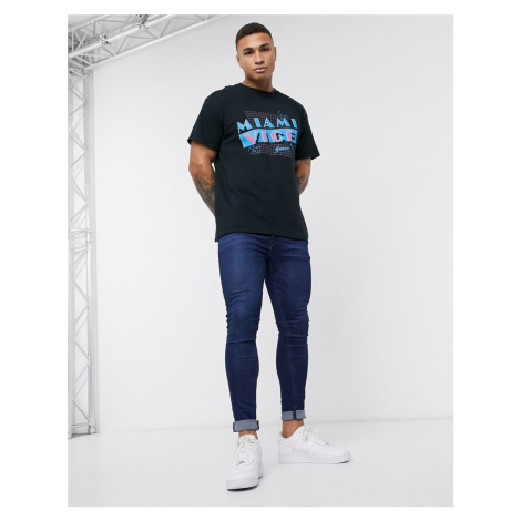 New Look Miami Vice oversized t-shirt in black