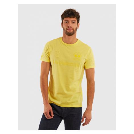 Tričko La Martina Man Cotton Jersey T-Shirt - Žlutá