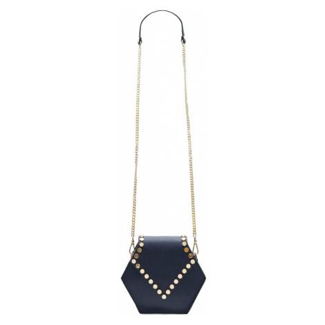 Dámská kožená crossbody kabelka asymetrická - tmavě modrá Glamorous