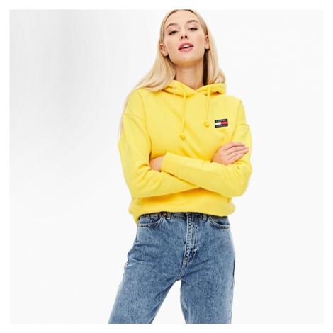 Tommy Jeans dámská žlutá mikina Tommy Tommy Hilfiger