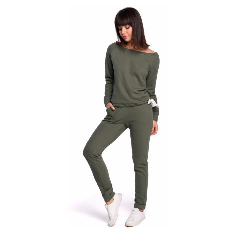 Bavlněný set tepláková souprava svetr a jogger kalhoty