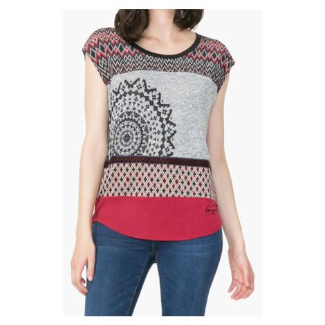 Tmavé vzorované tričko Desigual