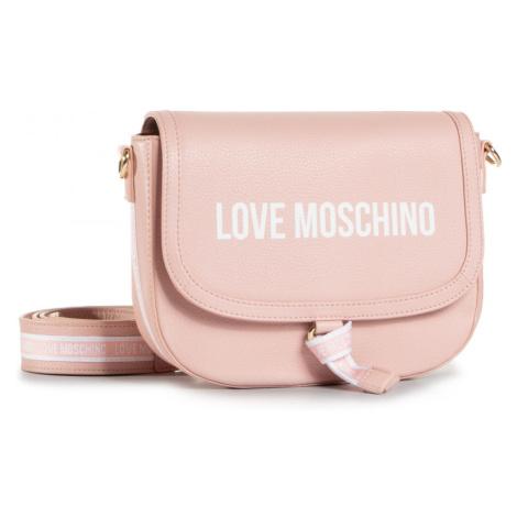 Růžová kožená kabelka - LOVE MOSCHINO