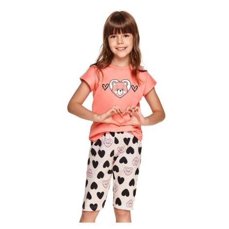 Dívčí pyžamo Amelia růžové srdce Taro