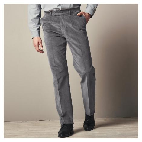 Blancheporte Manšestrové kalhoty s pružným pasem šedá