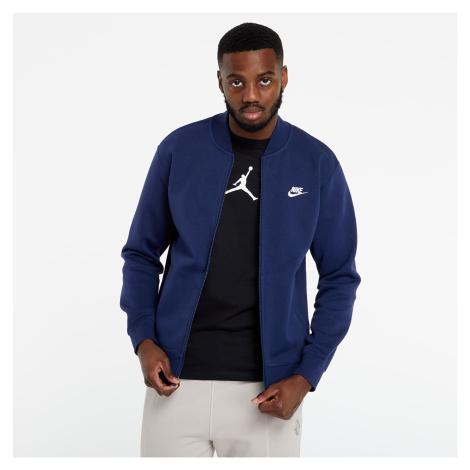 Nike Sportswear Club Bomber Jacket Midnight Navy/ Midnight Navy/ White