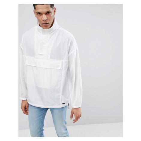 Hugo overhead jacket in white Hugo Boss