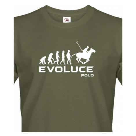 Pánské tričko s potiskem Evoluce Pólo - skvělý a originální dárek BezvaTriko