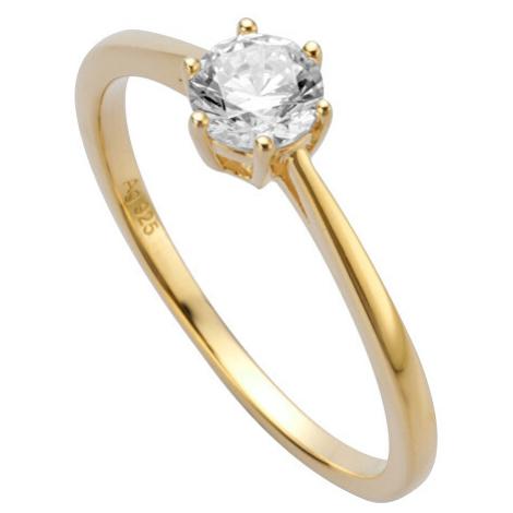 Esprit Pozlacený prsten se zirkonem Sole ESRG013912
