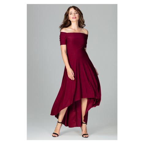 Bordové šaty K485 Lenitif