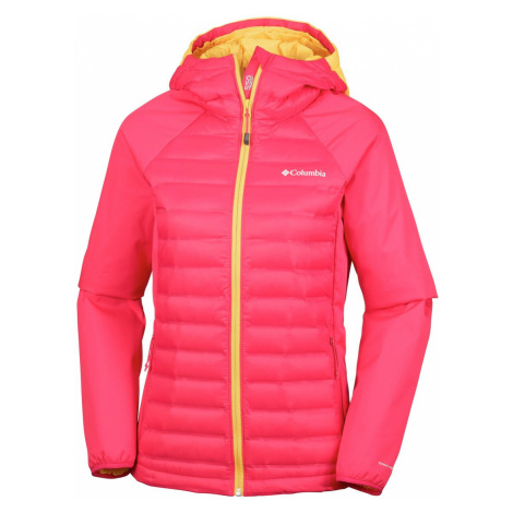Bunda Columbia Mountain Hike™ Hybrid Jacket W - růžová/žlutá