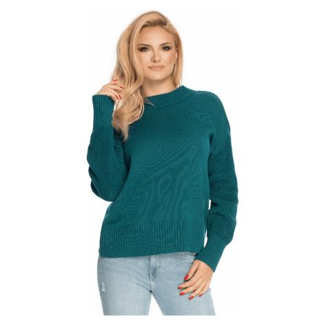 Pletený svetr z jemné bavlny oversize pulovr s mini rolákem