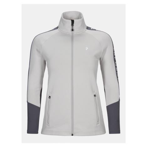 Mikina Peak Performance W Rider Zip Jacket - Bílá