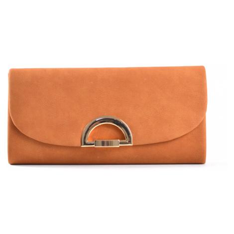 Společenská kabelka - psaníčko s klopnou syntetická rezavá hnědá, 25 x 5 x 13 (IT17-SHD615-13TX)