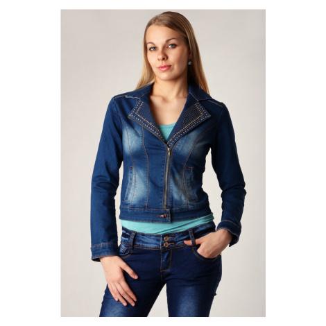 Zdobená dámská džínová bunda