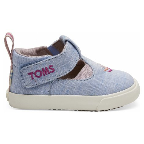 Light Bliss Blue Speckled Chambray TINY Joon Flat Toms