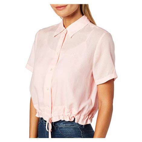 Calvin Klein Calvin Klein dámská růžová krátká košile WAISTED LACING SS SHIRT