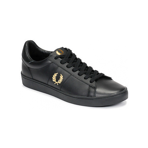Fred Perry SPENCER LEATHER Černá