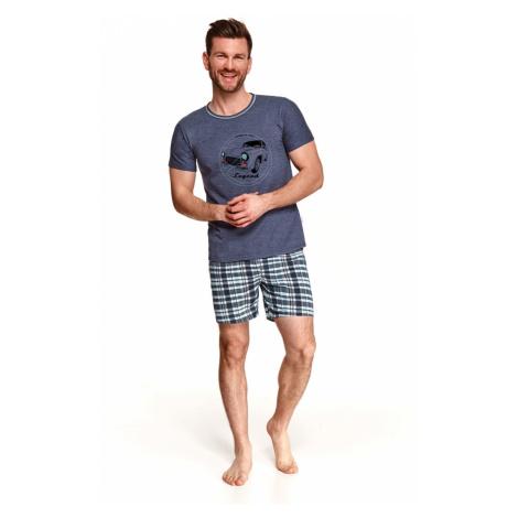 Pánské pyžamo 2086 SZYMON Jaro 2021 tmavě modrá Taro
