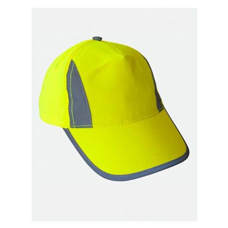 Kšiltovka Hi-Viz-, Fluo-, Reflective-Cap žlutá