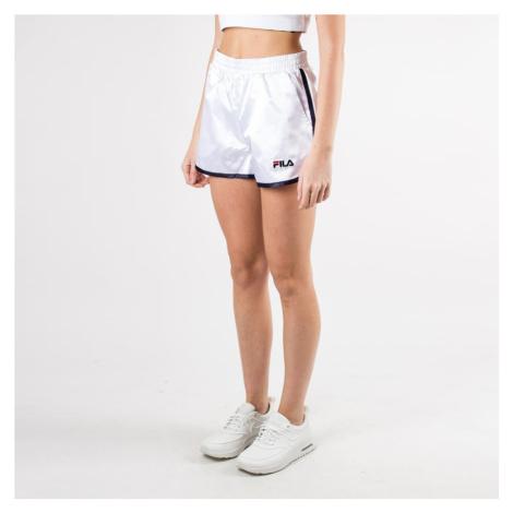 Bílé saténové šortky Retro Fila