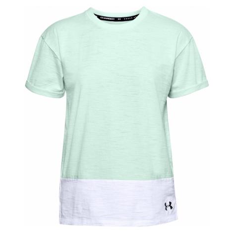 Dámské tričko Under Armour Charged Cotton Světle zelená / Bílá