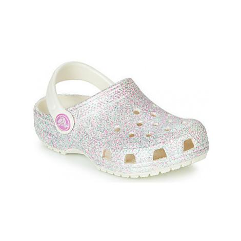 Crocs CLASSIC GLITTER CLOG K Bílá