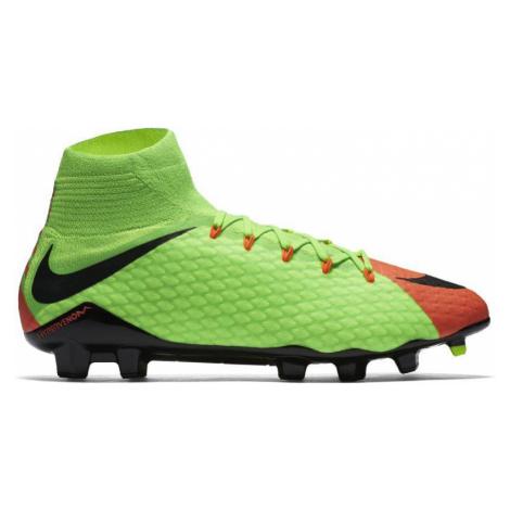 Kopačky Nike HYPERVENOM PHATAL III DF FG Zelená / Oranžová