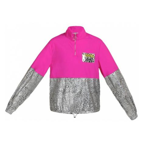 MyMo ATHLSR Sportovní bunda černá / pink / stříbrná / limone