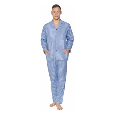 Pánské flanelové pyžamo Arnold modré Kuba