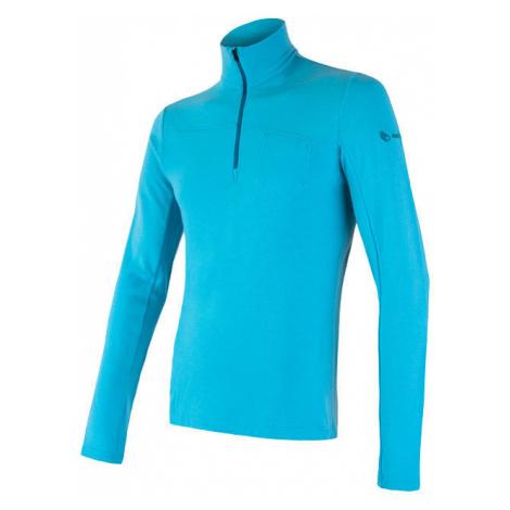 Pánské tričko SENSOR Merino Extreme dl. rukáv zip modrá