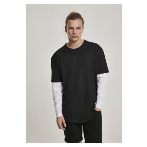 Oversized Shaped Double Layer LS Tee - black/white Urban Classics