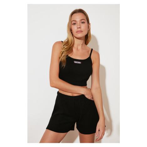 Trendyol Black Knitted Shorts & Bermuda