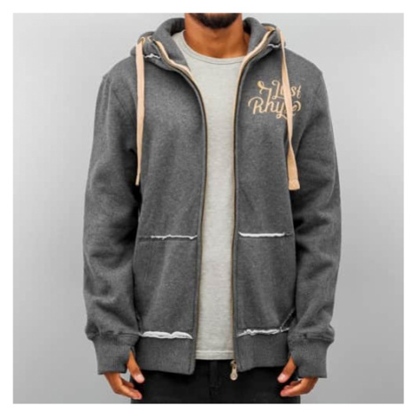 Just Rhyse Big Zip Hoody Charcoal