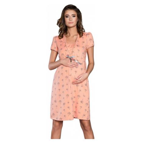 Italian Fashion Mateřská noční košile Madera lososová