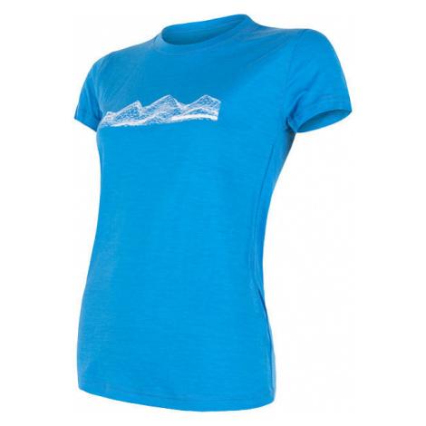 Dámské tričko SENSOR Merino Active PT Mountains modrá